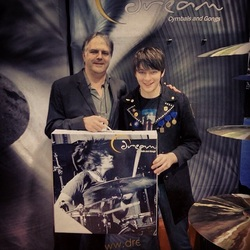 Jason with Andy Morris of Dream Cymbals